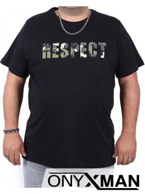 Макси тениска в черно с релефен принт