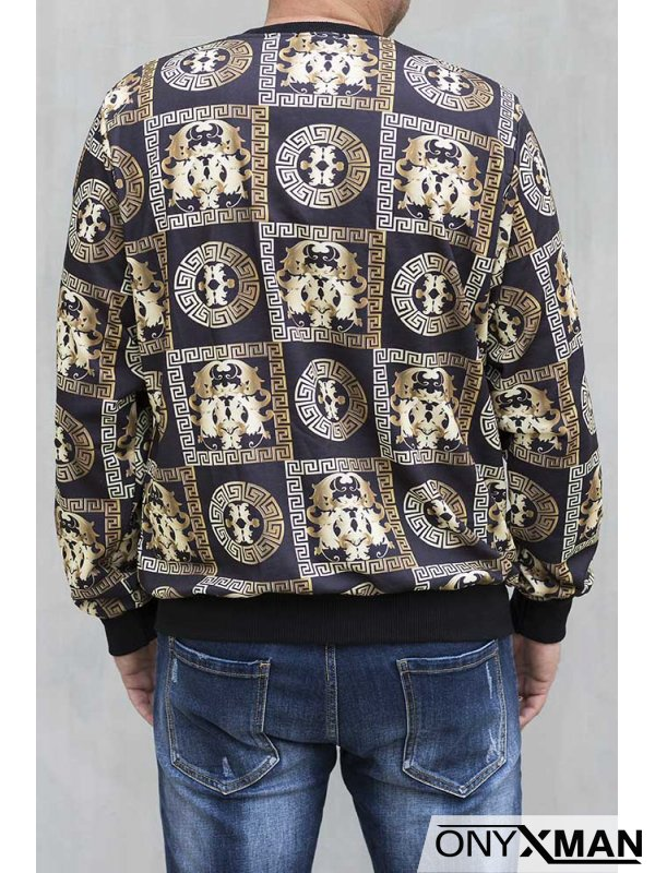 Модерна мъжка блуза в две цветови комбинации