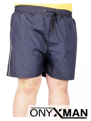 Плажни шорти в тъмно синьо Големи размери
