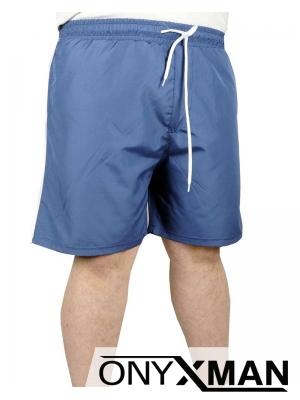 Плажни шорти в индиго син цвят Големи размери