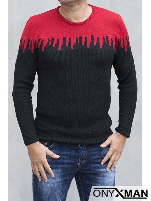 Черна трикотажна блуза Бляк