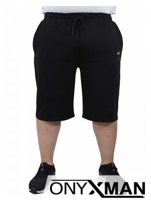 Макси къси черни панталони с връзки