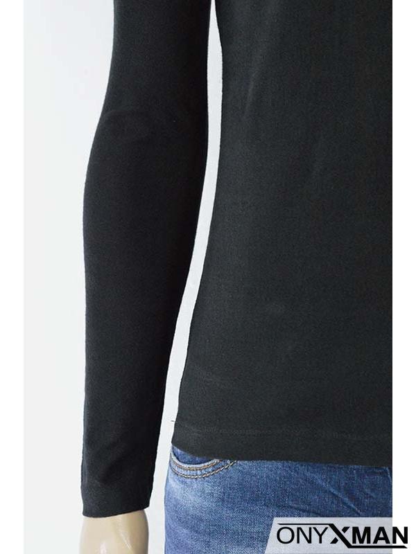 Мъжка блуза с яка и принт