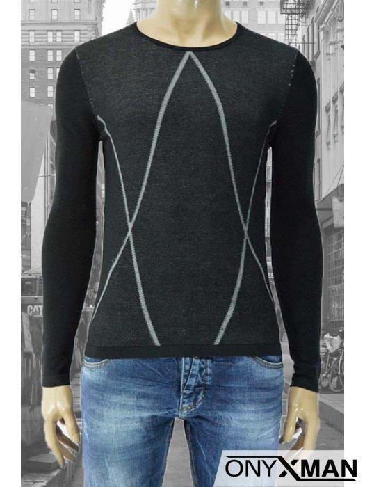 Мъжка блуза плетиво Линии