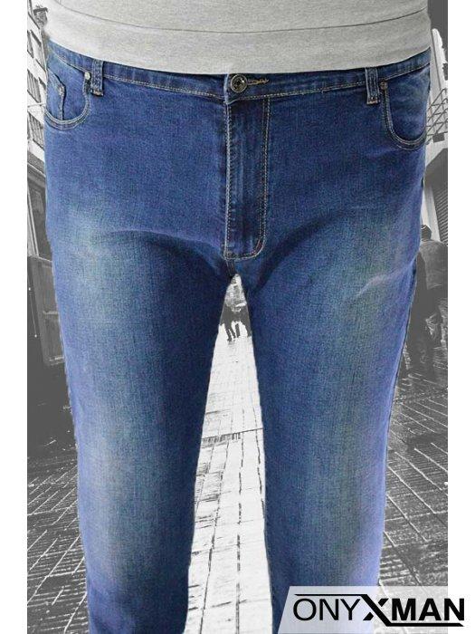 Мъжки дънки от син деним