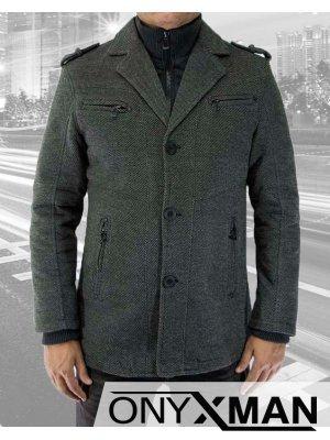 Мъжко късо вталено палто