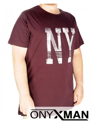 Макси тениска в бордо  NY