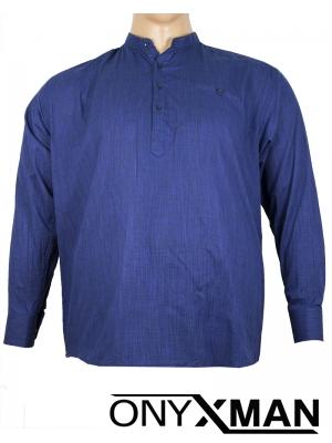 Макси ленена риза в тъмно синьо