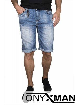 Къси сини дънки с ключодържател