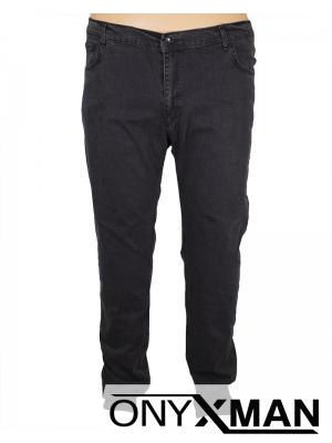 Макси дълги дънки в тъмно сив цвят