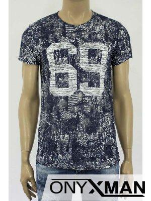 Мъжка тениска с цифри
