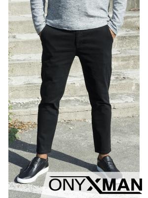 Черен панталон с дължина до глезена