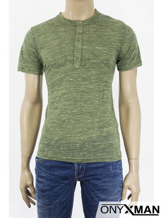 Мъжка тениска с декорация копченца