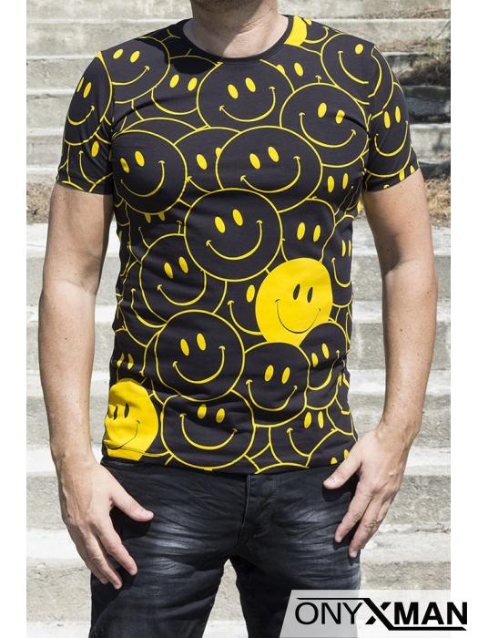 Мъжка двуцветна тениска