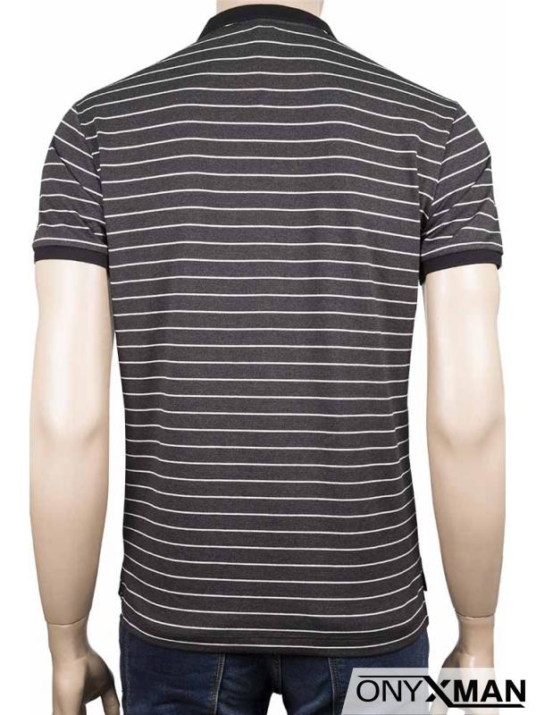 Мъжка тениска с яка и цип