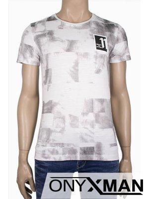 """Мъжка вталена тениска """"11"""""""