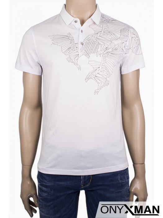 Елегантна тениска с яка