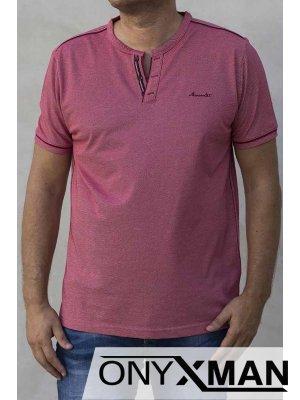Мъжка тениска с остро деколте 151111